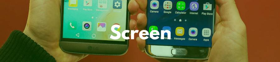 Samsung Galaxy S7 vs LG G5 screen display