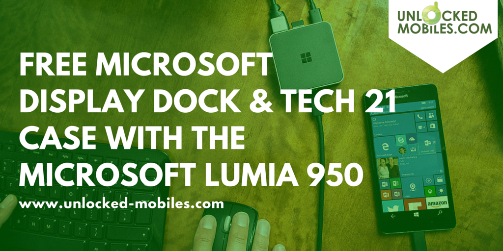free microsoft display dock and tech 21 case