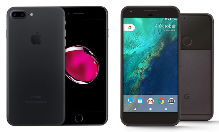 iphone 6 plus size vs pixel xl
