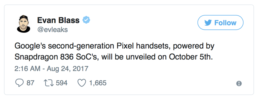 pixel 2 release dates