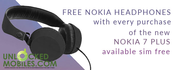 Free headphones with the Nokia 7 Plus - Mobile offer