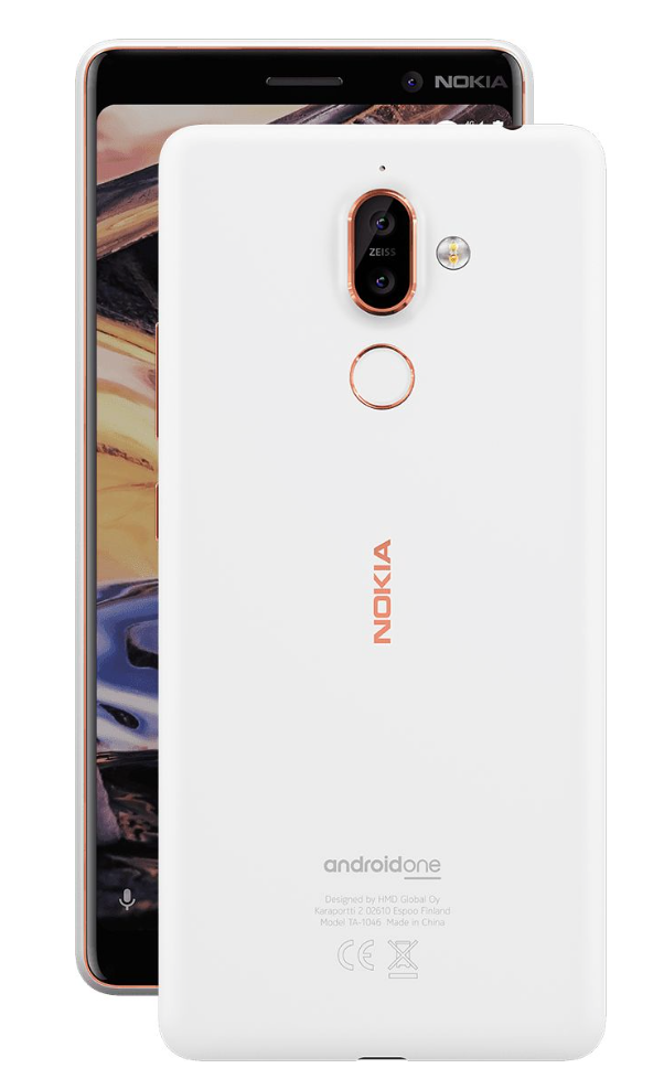 Nokia 7 plus white copper