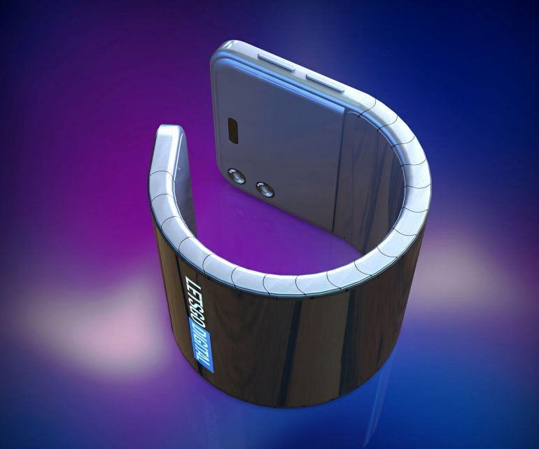 samsung wearable smartphone with flexible display