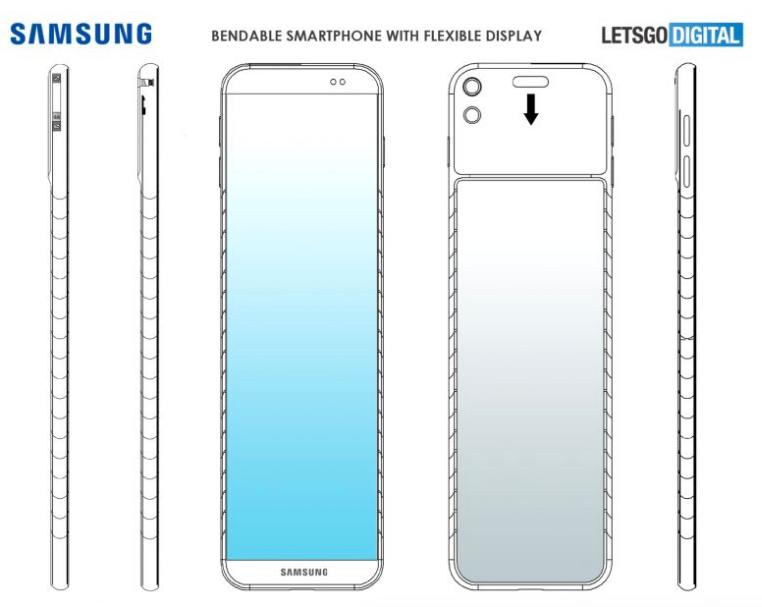 samsung bendable wrist smartphone