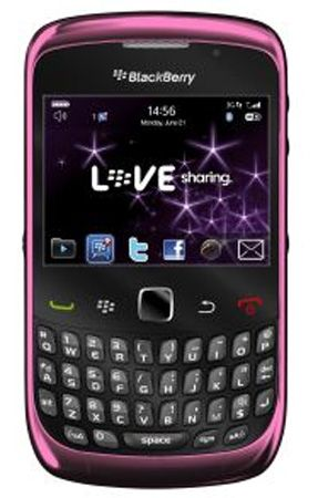 Blackberry 9300 Curve Pink Sim Free
