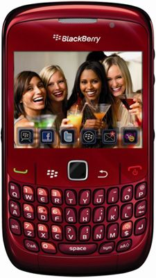 BlackBerry® Curve™ 8520 Red Sim Free Unlocked Mobile Phone