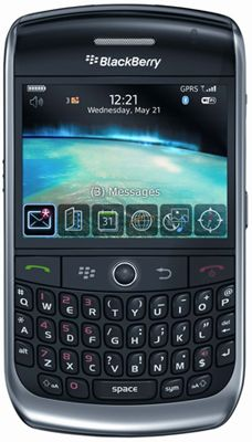 BlackBerry® Curve™ Javelin 8900 (Titanium) Sim Free Unlocked Mobile Phone