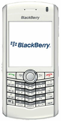 BlackBerry® Pearl™ 8100 White Sim Free Unlocked