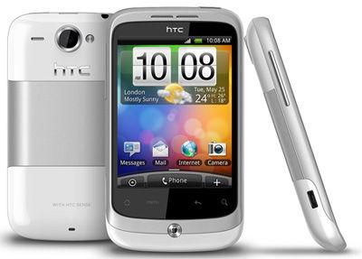 HTC Wildfire Silver Sim Free