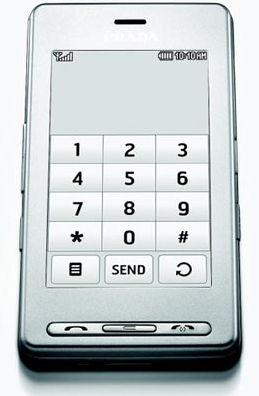 LG Prada Silver Sim Free Unlocked Mobile Phone