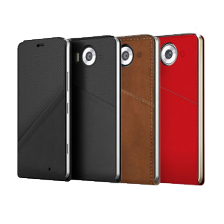 Mozo Notebook Leather Flip Case for the Lumia 950