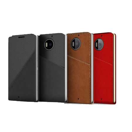 Mozo Notebook Leather Flip Case for the Lumia 950 XL