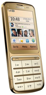 Nokia C3-01 Gold Edition Sim Free Unlocked Mobile Phone