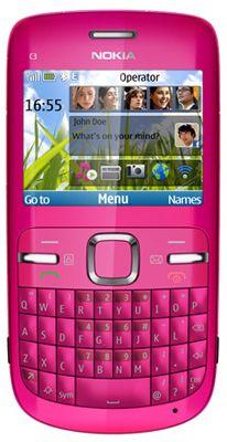 Nokia C3 Pink Sim Free