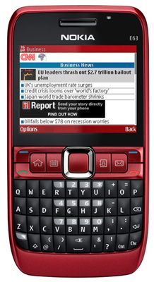 Nokia E63 (Red) Sim Free Unlocked Mobile Phone