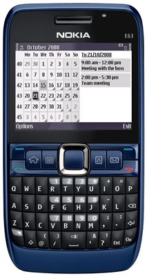 Nokia E63 (Blue) Sim Free Unlocked Mobile Phone
