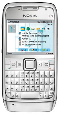 Nokia E71 (White Steel)