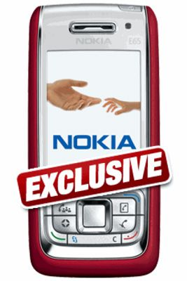 Nokia E65 Red Mobile Phone Sim Free Unlocked