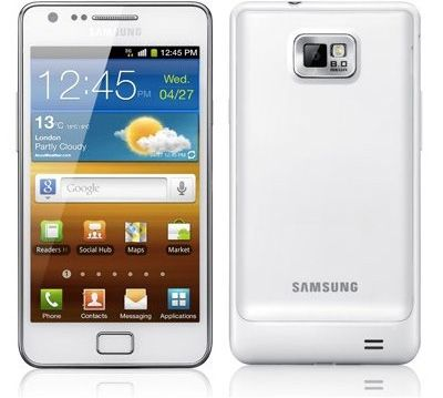Samsung Galaxy S II White Sim Free Unlocked Mobile Phone