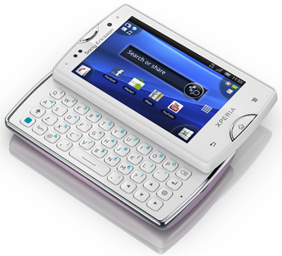 Sony Ericsson Xperia mini pro White Sim Free